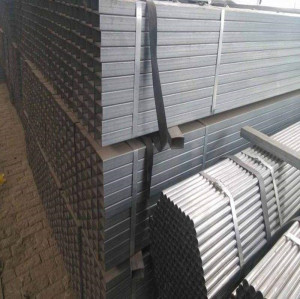 hollow section galvanized square steel pipes