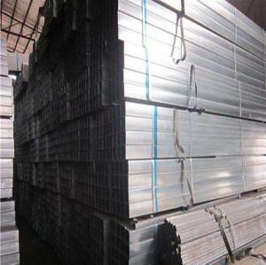 40*80*2.5mm Hot dip Galvanized Steel Rectangular Pipe and steel tube