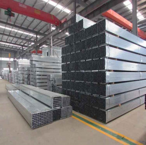 hot dip galvanized rectangular pipe carbon welded steel pipe