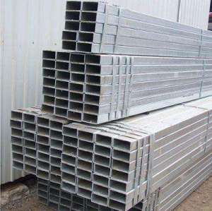 Building materials galvanized rectangular steel pipe