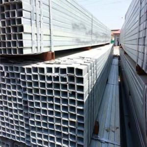 25x25 galvanized square steel pipe / square pipe