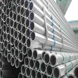 SS400 zinc coated and galvanized steel pipe