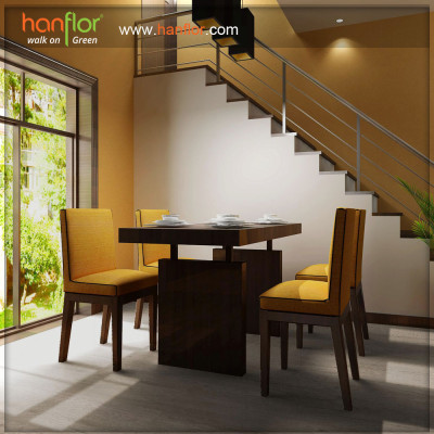 Hanflor smooth vinyl flooring for drawing room