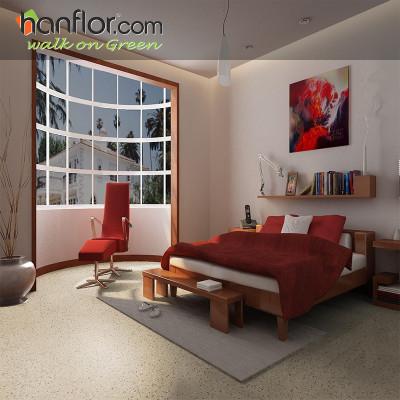 hanflor pvc floor tile granite looking anti-scratch for living room HVT2004-4