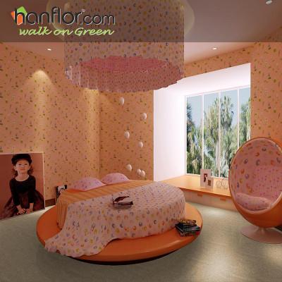 Hanflor pvc floor tile granite looking anti-scratch for living room HVT2004-6