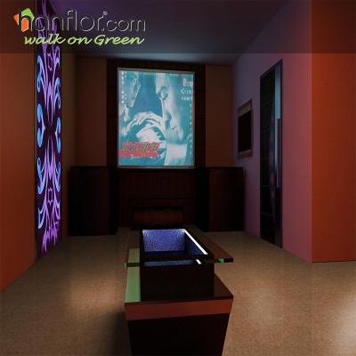 Hanflor pvc floor tile slate embossed  smooth for living room HVT2007