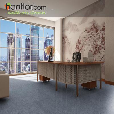 Hanflor pvc floor tile slate embossed  smooth for office HVT2008