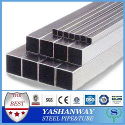 50 x 50 x 3.75 mm moinho 201 inoxidável YSW tubo de aço quadrado