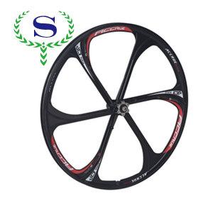 ysw nero 6 raggi della ruota integrato cerchi per mtb