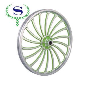 ysw 18 raggi bmx verde cerchi ruota