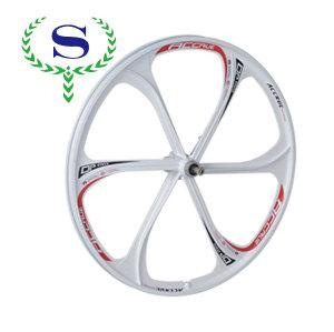 ysw 흰색 산악 자전거 휠 바퀴 MTB