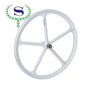 ysw 흰색 5 뼈 29 인치 도로 경주 통합 바퀴에