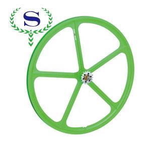 ysw verde 5 raggi bicicletta fixie cerchi ruota