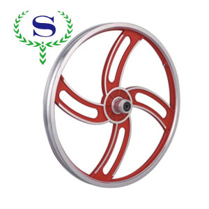 Ysw rouge roue 4 rayons jantes