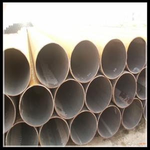 Api5l huile / tuyau de gaz ligne / spirale de tuyaux en acier soudé