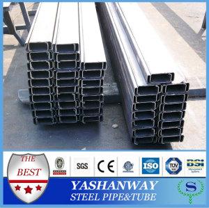 Ysw light gauge MS acier canal dimensions pour construction métalliques