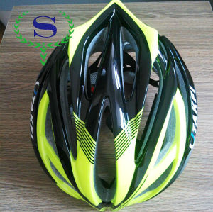 ysw 도매 녹색 자전거 안전 판매 헬멧 턱 끈과