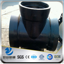 YSW carbon steel pipe fitting equal cross