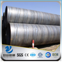 YSW large diameter schedule 40 black SSAW steel pipe price
