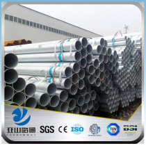 YSW schedule 80 prices of hot dipped galvanized pipe size chart