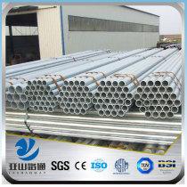 YSW 6m length 50mm diameter weight of hot gi pipe price
