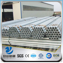 YSW 2 inch pre galvanized round steel pipe weight per meter