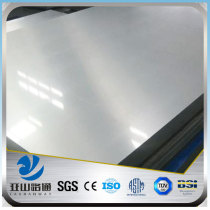 YSW 1mm thick 409 super mirror finish stainless steel sheet prices