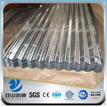 YSW 28 gauge galvanized steel metal corrugated sheet