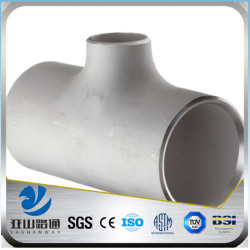 YSW four way asme standard bevel ends stainless steel tee pipe fittings