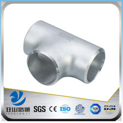 YSW long straight stainless steel tee joint pipe tube pipe fittings
