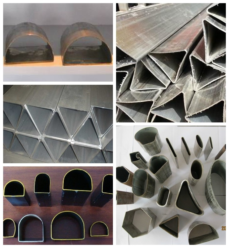 椭圆形异型钢管The oval shaped steel pipe三角形异型钢管Triangle shaped steel tube六角形异型钢管Hexagonal shaped steel tube菱形异型钢管Diamond shaped steel tube八角形异型钢管Octagonal shaped steel tube半圆形异型钢管Semicircle shaped steel tube不等边六角形异型钢管Unequal hexagonal shaped steel tube五瓣梅花形异型钢管plum blossom shape steel pipe双凸形异型钢管Double convex shaped steel tube双凹形异型钢管Double concave shaped steel tube瓜子形异型钢管Melon seeds deformed steel pipe圆锥形异型钢管Conical shaped steel tube波纹形异型钢管Corrugated shaped steel tube