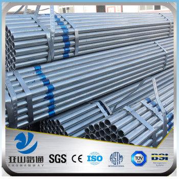 YSW zinc coated galvanised gi steel pipe