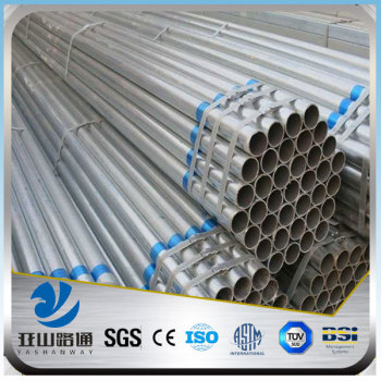 YSW steel pipe weight per meter gi pipe thickness