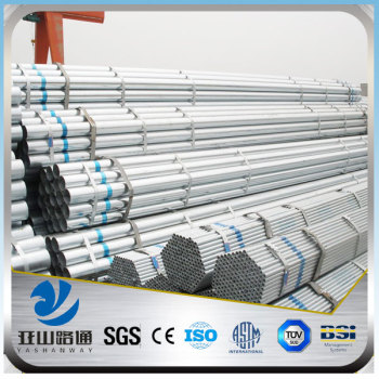 YSW bs1387 Class B pre Galvanized Steel Pipe Price List