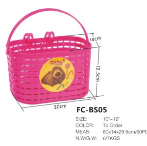 Ingrosso ysw cestino della bicicletta rosa per kid's bici