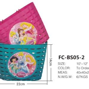 ingrosso ysw moto principessa cestino della bicicletta di plastica