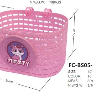 ingrosso ysw principessa rosa bici cestino della bicicletta di plastica