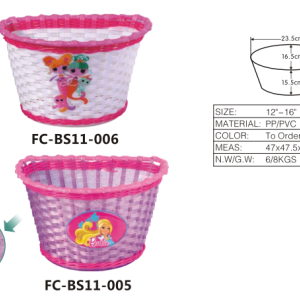 Ingrosso ysw principessa rosa fiore kids' bici cestino