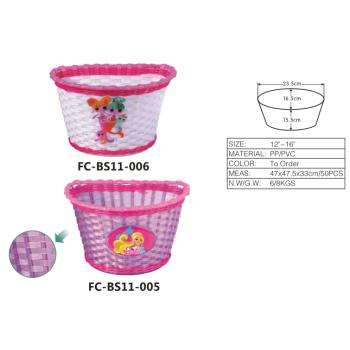 Ysw оптовая продажа принцесса розовый цветок детский велосипед детский корзина
