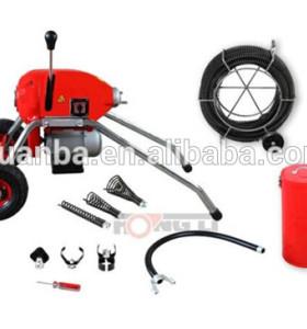 D200 mobile industrial máquina de limpieza de tuberías, diseño robusto con cables