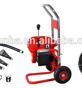 D200a mobile industrial máquina de limpieza de tuberías, diseño robusto con cable