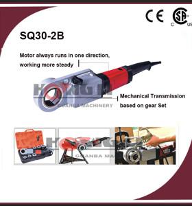 Maquinas de mano pipa eléctrica enhebrador sq30-2b portable/tubería máquina roscadora, ce y csa, 1/2