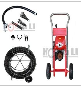 D-200-1A portable de drenaje eléctrica/máquina de limpieza de tuberías con ruedas, ce, precio fabrica