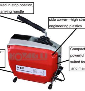 D150 máquina de limpieza de drenaje para la venta, fácil de usar