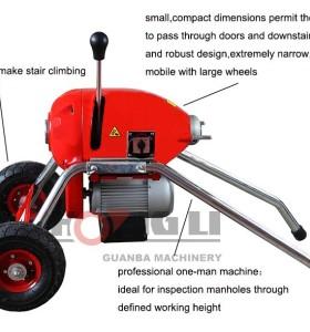 D200 drain cleaner/máquina de limpieza de drenaje para la venta, nuevo diseño con ce