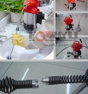 D75 limpiador de drenaje barrena/tubo de desagüe de la máquina de limpieza con barrena, cable