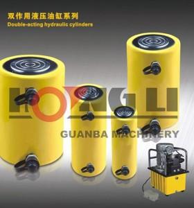 HL-S hongli doble efecto cilindros hidraulicos/doble efecto cilindro de carrera larga hidraulica