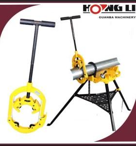 Hongli h4s/H6S/h8s bisagras pipe cutter herramienta de mano de acero/gi tubería