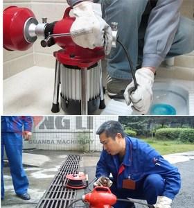 Hongli d150 máquinas de limpieza de drenaje de tuberías de alta calidad, Tubería de alcantarillado de drenaje de limpieza máquina con ce