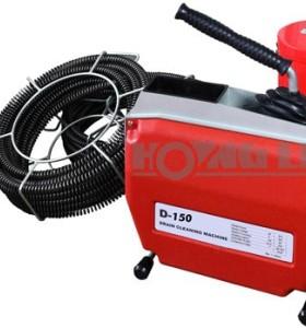 D150 eléctrica serpiente pipe máquina de limpieza de drenaje obstruido
